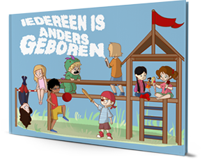 Kinderboek 'Iedereen is anders geboren'